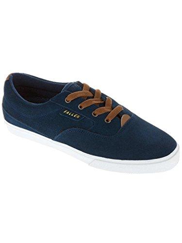 Fallen Men's Carlin Skate Shoe,Midnight Blue/Saddle Brown,12 M US