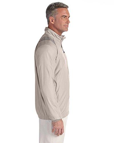 adidas Mens ClimaProof® Three-Stripe Jacket-A169-XXL-Ecru-Black
