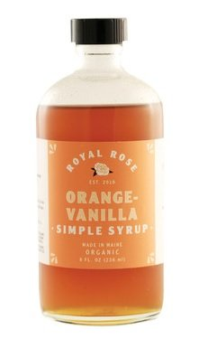 Royal Rose Orange-Vanilla Simple Syrup 8oz