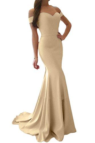 Champagne Donna Maniche Sirena Vestito Senza Classico Promworld Oq4CYw