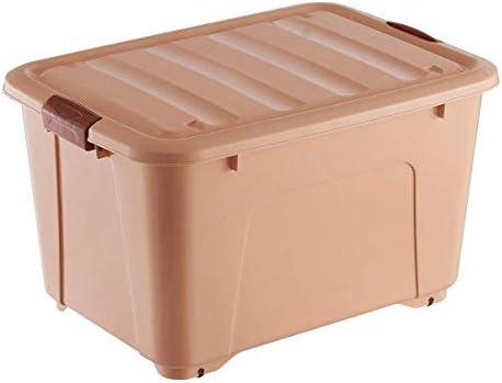 RANRANJJ Los recipientes de almacenamiento de plástico con tapas y ruedas - Durable grandes cajas de almacenamiento - apilable que ahorra espacio Contenedores - Los organizadores resistentes y seguros: Amazon.es: Hogar