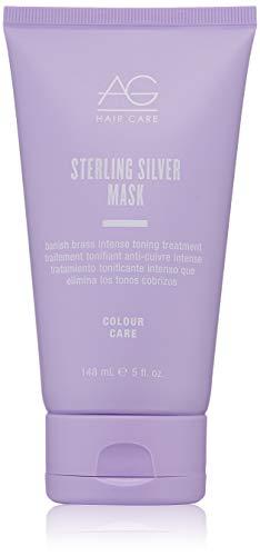 AG Hair Sterling Silver Mask Banish Brass Intense Toning Treatment, 5 Fl Oz