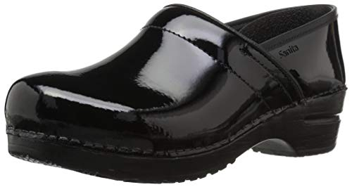 - Sanita Women's Professional Patent Clog,Black,40 Medium EU (9-9.5 US)
