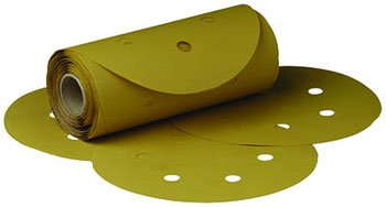 3M 01372 Stikit Gold 6'' P500 Grit Dust-Free Film Disc Roll