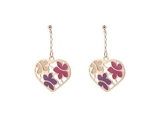 Fronay Co Etruscan Rose Gold Flowered Heart Earrings in Sterling - Macy's The Galleria In