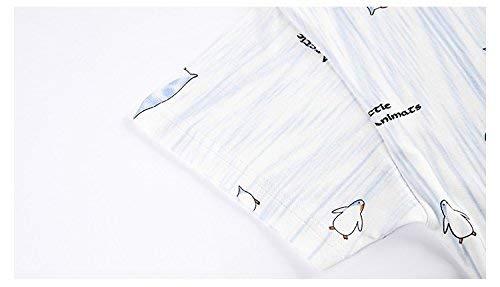 Con V Pantalones Animados Algodón Clásico Corta Casa Mujer Azul Manga De Mujeres Para Dibujos En Pijamas Cortos Verano Lindo Sueltos Cuello f6Yqwv