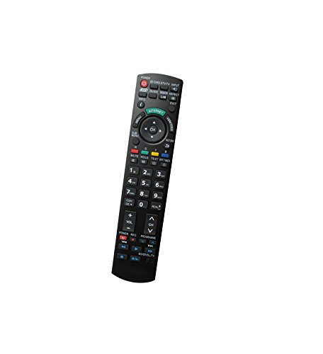 Universal Remote Replacement Control Fit for Panasonic N2QAYB000322 TC-L37G1 TC-P46S1 TC-P50S1 TC-42PX14 TC-L32S1 TC-P42S1 TC-L32G1 N2QAYB000777S N2QAYB000779 Smart 3D Plasma LCD LED HDTV TV
