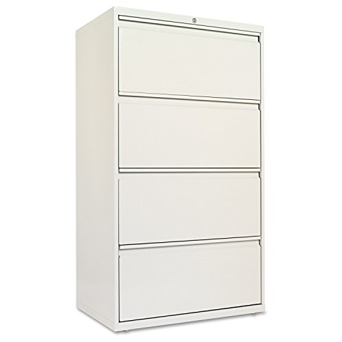 Metal Wide Cabinet - Alera ALELF3054LG Four-Drawer Lateral File Cabinet, 30w x 19-1/4d x 53-1/4h, Light Gray