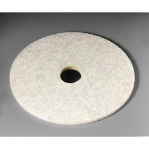 3M Ultra High-Speed Natural Blend Floor Burnishing Pads 3300, 20-in, Natural White - 5 pads per case.