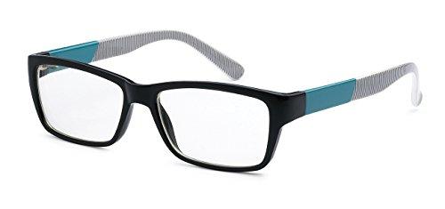5zero1 Nerd Glasses Men Women Retro 80's Classic Fashion Party Fake Eyeglasses (Aqua and - Cheap Wayfarer Eyeglasses
