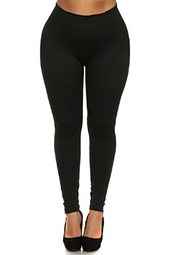 Women's Plus Size Basic Leggings 2X/3X - Black