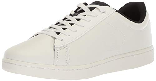 Lacoste Men's Carnaby EVO Sneaker, off off white/black, 10.5 Medium US