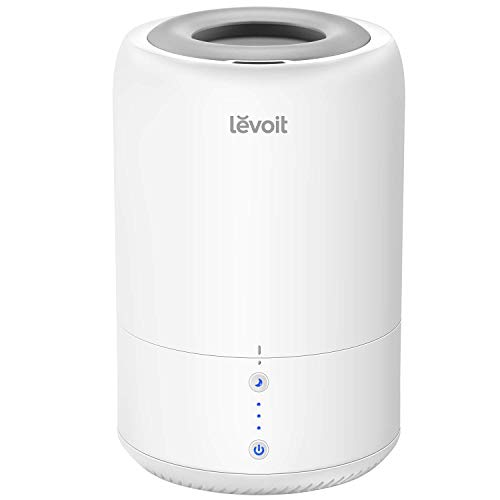 Levoit Top Fill Humidifiers, Ultrasonic Cool Mist Humidifier & Essential Oil Diffuser for Bedroom, Office, Baby, 3 Mist Levels, Smart Sleep Mode, Whisper Quiet, Waterless Auto Shut Off, Last up to 20H (1.8L/0.48Gal, 110V-240V)