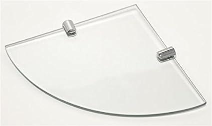 Mensole Angolari Vetro.Cabinetsforbathrooms Mensola Angolare In Vetro Spesso 6 Mm Con 2 Graffette Cromate 200 X 200 Mm