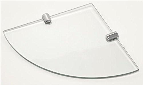 /Étag/ère dangle en verre tremp/é avec 2 fixations chrom/ées 200 x 200 mm /Épaisseur 6 mm
