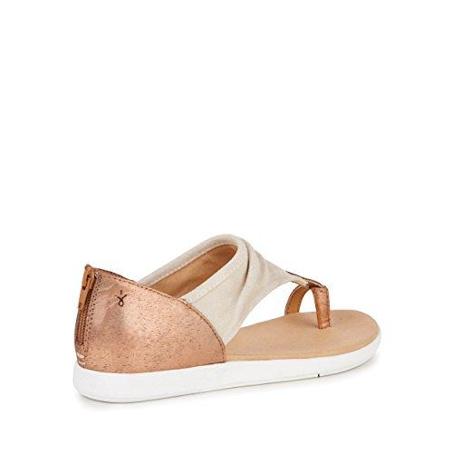 EMU Australia Womens Sandals Yarra Nappa Leather in Natural / Rose Gold