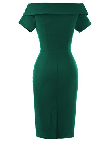 - Vintage Pencil Dresses for Women Knee Length Size USA12 Pine Green BP158-4