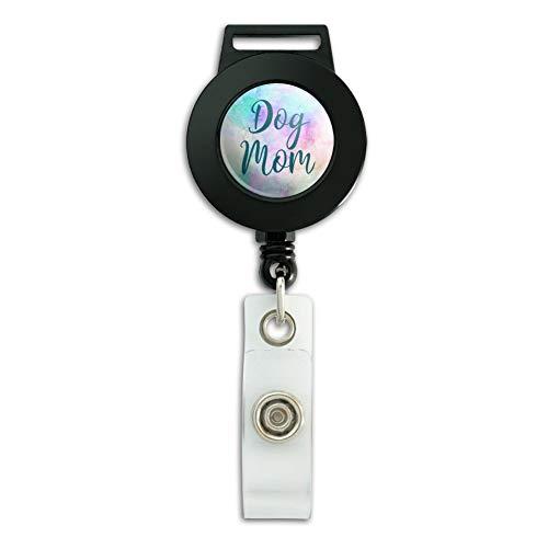 Dog Mom Lanyard Retractable Reel Badge ID Card Holder