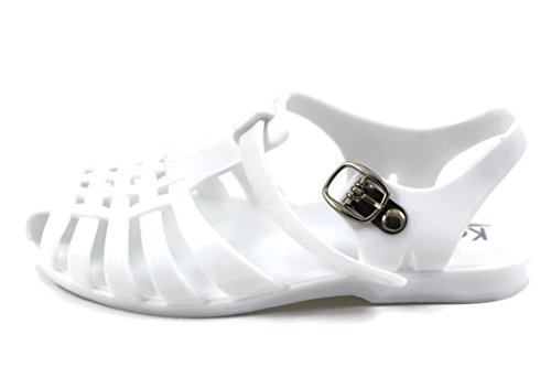 Angel Jr Girls Summer Retro Jelly Fisherman Water Shoes Kids JR Sandals Strappy Gladiator (3, - Junior Angel