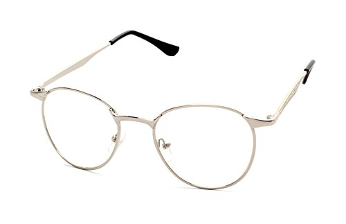 Caixia Unisex JTS3089 Super-thin Metal Frame Classic Round 50mm Eyeglasses -