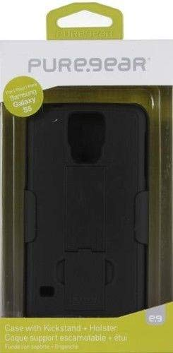 PureGear Kickstand and Holster for GS5 - Retail Packaging - Black (Gs5 Case Custom)