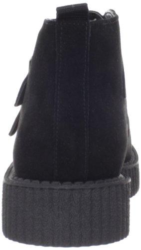 T.U.K. Mondo Lo Creeper Boot Damen Flatform Schwarz - Schwarz (Black)