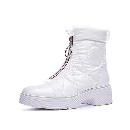 Leisure Plus Velvet Bottes antidérapantes ski antidérapantes Warm Womens Yubin Bottom noirs Keep Winter de blanc nBqx0w8S