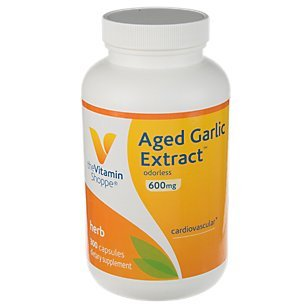 Aged Garlic Extract 600mg Capsules, Odorless Natural Powder Extract, Herbal Supplement Provides Heart Health Support, Blood Pressure Support Healthy Immune System 300 Capsules by The Vitamin Shoppe