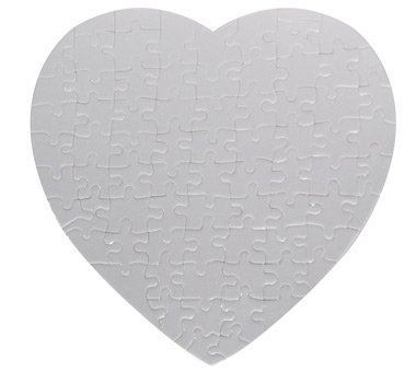 10 Sets Blank Sublimation Heart Jigsaw Puzzle DIY Heat Press Transfer Crafts