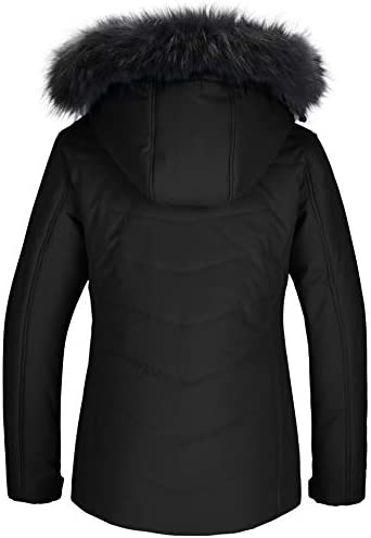 Skieer Women's Waterproof Ski Jacket Warm Winter Snow Coat Windproof Hooded Rain Jacket