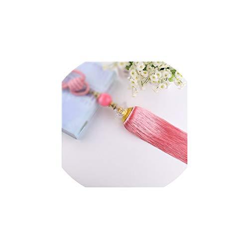 Cherryran Curtain Tiebacks A Pair Holder for Decoration Tassels Pendant Accessories,Pink