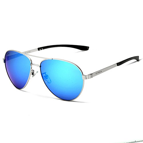 Yurt hombre Fashion inoxidable para comodidad D acero personalidad B wkaijc polarizadas sol Gafas ocio de 4cEqwz