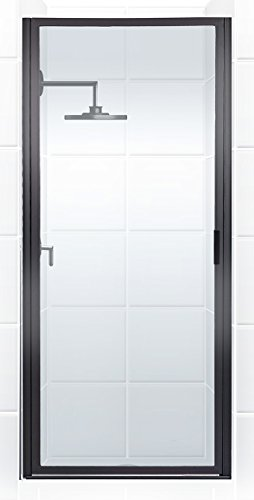 Coastal Shower Doors P32.70O-C Paragon Series Framed Continuous Hinged Shower Door with Aquatex Glass, 32 x 69 , Black Bronze