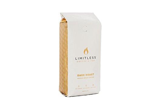 Limitless Coffee Air Roasted Ground Coffee, Dark Roast, 12 Ounce