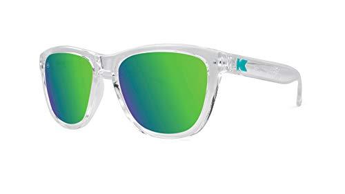 Sunglasses Kids (Knockaround Kids Premiums Sunglasses, Clear Frames/Green Moonshine Lens)