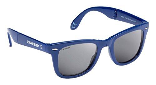 Soleil Lentilles UV Adultes Gris Poche avec Rigide Cressi Foncé Taska étui de Lunettes Bleu 100 Polarisées Anti Pliable pour 0wHaf