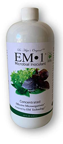 TeraGanix EM-1 - 1 Quart - All Natural Organic Microbial Inoculant - Plants & Soil | Nontoxic Active Probiotic Conditioner For Lawn Care | Eliminate Foul Odors & Improve Water Quality