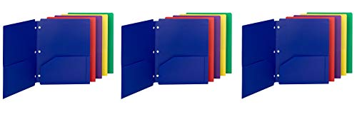 (Smead Poly Snap-in Two-Pocket File Folder, Letter Size, Assorted Colors, (87939) (3))