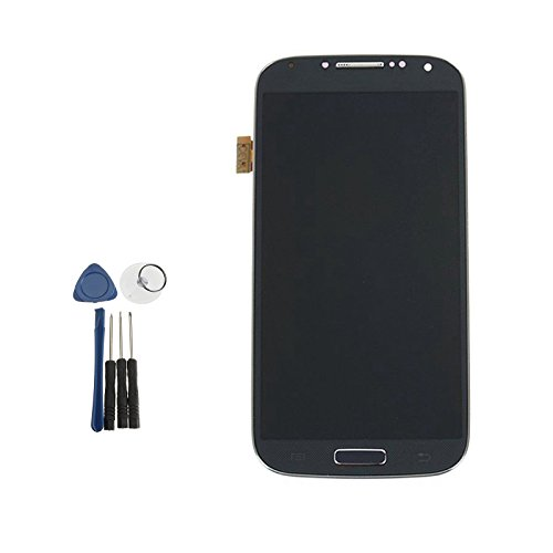 XBERSTAR Samsung Galaxy S4 i9500 i9505 LCD Display Touch Screen Digitizer Assembly Replacement Frame Tools (Black)