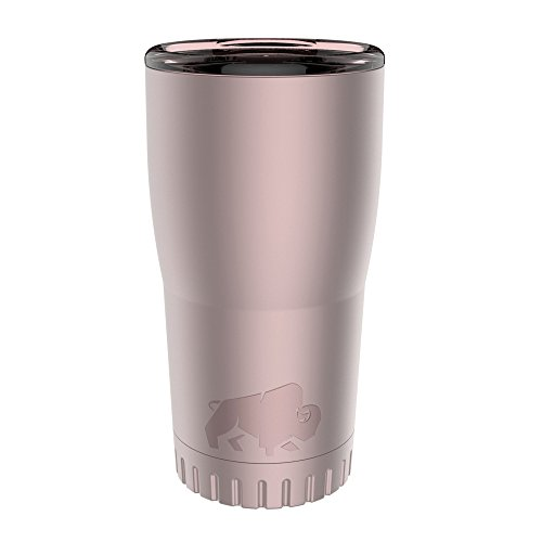 Silver Travel Tumbler - Silver Buffalo NL112295 Matte Stainless Steel Travel Tumbler, 20-Ounces, Pink
