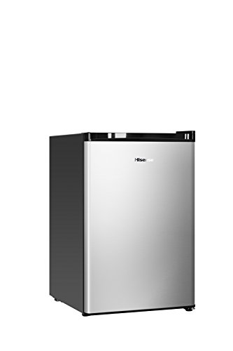 Hisense RS09DR1SS 2.7 cu. ft. Single Door Compact Refrigerator, Silver