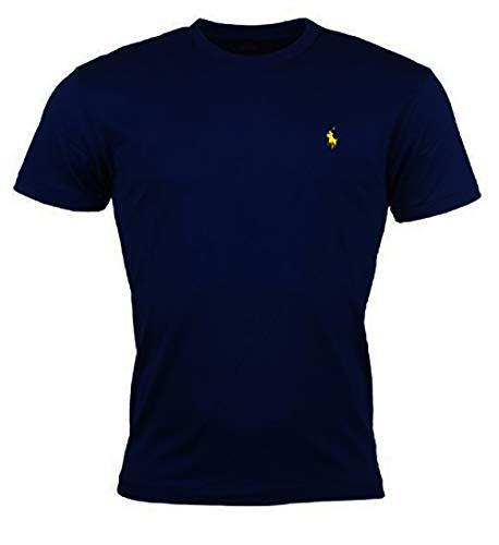 Polo Ralph Lauren Men's Pony Logo Crew Neck T-Shirt (Large, Independence Blue)