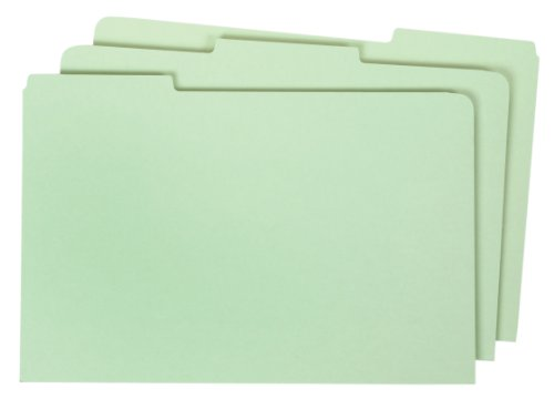 Globe-Weis/Pendaflex Pressboard File Guides, Blank, 1/3 Cut Tabs, Legal Size, Light Green, 50 Per Set (9324P) (Drawer File Guides)
