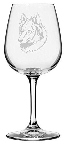 Himalayan Sheepdog (Bhote Kukur) Dog Themed Etched 12.75oz Libbey Wine Glass