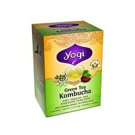 Yogi Tea Kombucha Green Tea 16 ea ( pack of 2) 35 This tea was inspired by a remedy that dates back to ancient Russia Blended with organic green tea, designed to support your immune system and supply antioxidants Spearmint supports digestion, as lemongrass and plum flavors create a fragrant blend with a light flavor