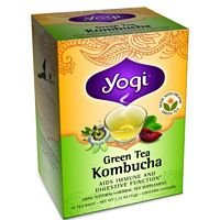 Yogi Tea Green Tea Kombucha, Herbal Supplement, Tea Bags, 16 ct, 2 pk