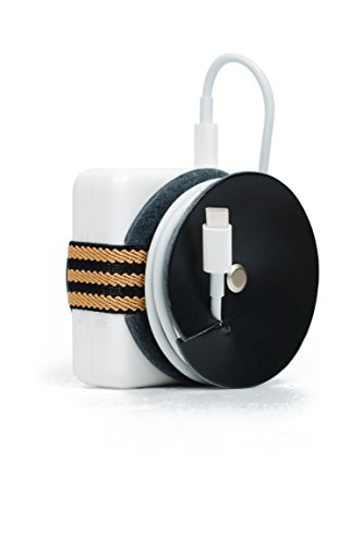 PowerPlay Leather Cable Organizer for MacBook Pro Power Adapter - Leather Above