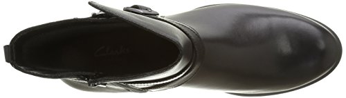 Clarks Cheshuntbe GTX, Stivali da Motociclista Donna Nero (Black Leather)