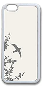 iPhone 6 Plus Cases (5.5 inch) - New Cool Best Rubber Bumper White Covers Flying Swallow
