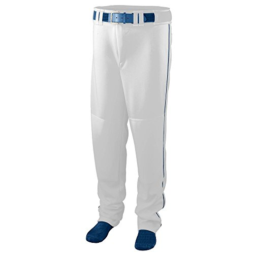 Augusta Sportswear BOYS' SERIES BASEBALL PANTS WITH PIPING S White/Navy